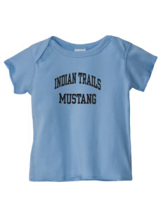 Indian Trails Middle School Mustang  Baby Lap Shoulder T-Shirt