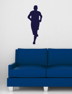 "Baldwin Academy Braves Wall Silhouette Decal 20"" x 32"""