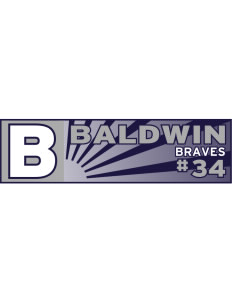 "Baldwin Academy Braves Bumper Sticker 11"" x 3"""