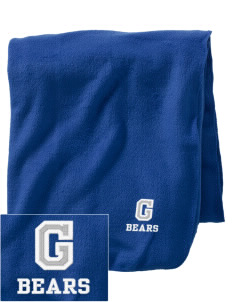 Grimmer Elementary School Bears Embroidered Holloway Stadium Fleece Blanket