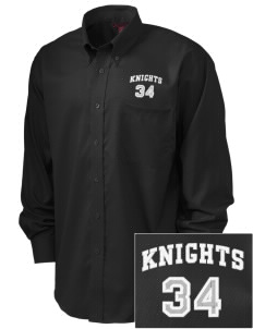 Tenino Middle School Knights  Embroidered Men's Nailhead Non-Iron Button-Down