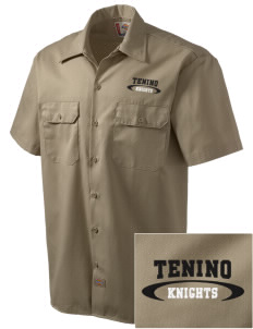 Tenino Middle School Knights Embroidered Dickies Men's Short-Sleeve Workshirt