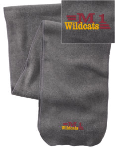 Madison 1 Middle School Wildcats  Embroidered Extra Long Fleece Scarf