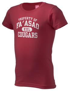 fa'asao high cougars  Girl's Fine Jersey Longer Length T-Shirt
