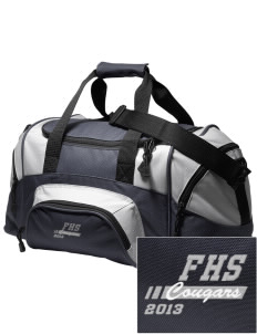 fa'asao high cougars Embroidered Small Colorblock Duffel