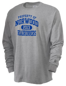 Norwood Elementary School Roadrunners  Russell Men's Long Sleeve T-Shirt
