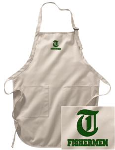 Tracewell fishermen Embroidered Full-Length Apron with Pockets