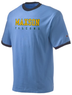 Maxson Elementary School Falcons Champion Men's Ringer T-Shirt