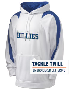 Monticello High School Billies Holloway Men's Sports Fleece Hooded Sweatshirt with Tackle Twill