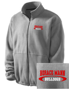 Horace Mann Elementary School Bulldogs Embroidered Men's Fleece Jacket
