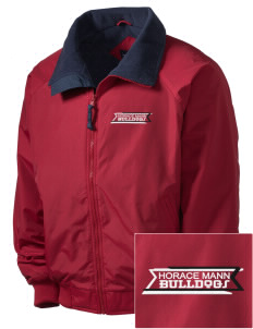Horace Mann Elementary School Bulldogs Embroidered Men's Fleece-Lined Jacket