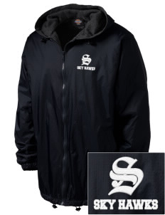 Sunnydale Elementary School Sky Hawks Embroidered Dickies Men's Fleece-Lined Hooded Jacket