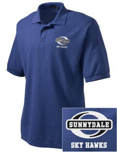 Sunnydale Elementary School Sky Hawks Embroidered Tall Men's Silk Touch Polo