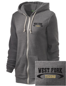 West Fork High School Tigers Embroidered Alternative Unisex The Rocky Eco-Fleece Hooded Sweatshirt