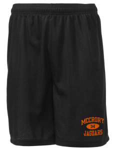"McCrory High School Jaguars Men's Mesh Shorts, 7-1/2"" Inseam"