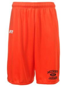 "McCrory High School Jaguars  Russell Deluxe Mesh Shorts, 10"" Inseam"