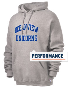 Oceanview Elementary School Unicorns Russell Men's Dri-Power Hooded Sweatshirt