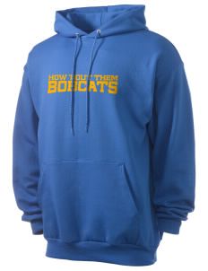Bowman Elementary School Bobcats Men's 7.8 oz Lightweight Hooded Sweatshirt