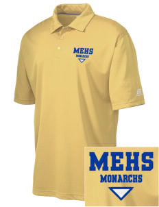Mount Eden High School Monarchs Embroidered Russell Coaches Core Polo Shirt