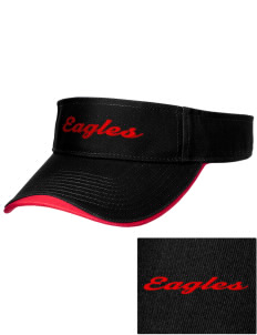Thurgood Marshall Elementary School Eagles Embroidered Binding Visor