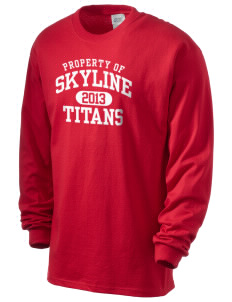 Skyline High School Titans Men's Long Sleeve T-Shirt