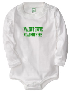 Walnut Grove Elementary School Roadrunners  Baby Long Sleeve 1-Piece with Shoulder Snaps