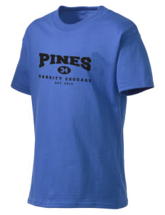 Pines Elementary School Cougars Kid's Lightweight T-Shirt