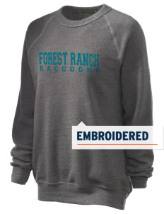 Forest Ranch Elementary School Raccoons Embroidered Unisex Alternative Eco-Fleece Raglan Sweatshirt