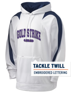 Gold Strike High School Dragons Holloway Men's Sports Fleece Hooded Sweatshirt with Tackle Twill