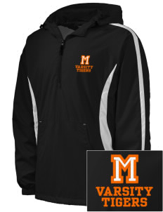 Marsh Elementary School Tigers Embroidered Men's Colorblock Raglan Anorak