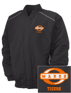 Marsh Elementary School Tigers Embroidered Russell Men's Baseball Jacket