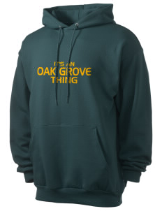 Oak Grove Middle School Braves Men's 7.8 oz Lightweight Hooded Sweatshirt