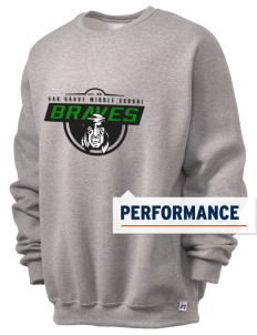 Oak Grove Middle School Braves  Russell Men's Dri-Power Crewneck Sweatshirt