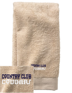 Country Club Elementary School Cougars  Embroidered Zero Twist Resort Hand Towel