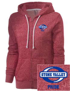 Stone Valley Middle School Pride Embroidered Women's Marled Full-Zip Hooded Sweatshirt