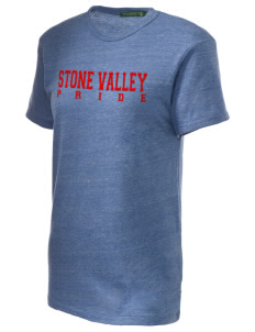 Stone Valley Middle School Pride Embroidered Alternative Unisex Eco Heather T-Shirt