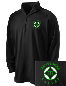 Indian Diggings Elementary School Eagles Embroidered Men's Stretched Half Zip Pullover