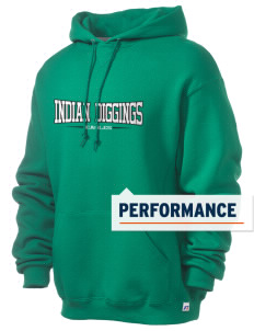 Indian Diggings Elementary School Eagles Russell Men's Dri-Power Hooded Sweatshirt