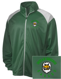 Indian Diggings Elementary School Eagles Embroidered Men's Tricot Track Jacket