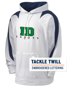 Indian Diggings Elementary School Eagles Holloway Men's Sports Fleece Hooded Sweatshirt with Tackle Twill