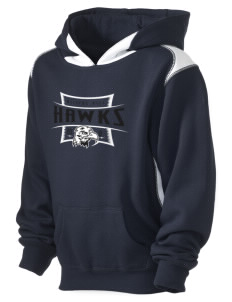 Millers Hill Middle School Hawks Kid's Pullover Hooded Sweatshirt with Contrast Color
