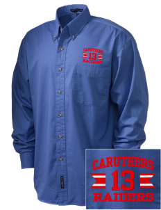 Caruthers High School Raiders Embroidered Men's Twill Shirt
