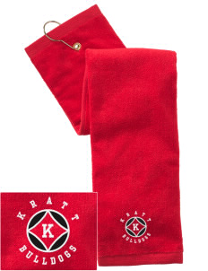 Kratt Elementary School Bulldogs Embroidered Hand Towel with Grommet