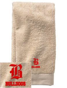 Kratt Elementary School Bulldogs  Embroidered Zero Twist Resort Hand Towel
