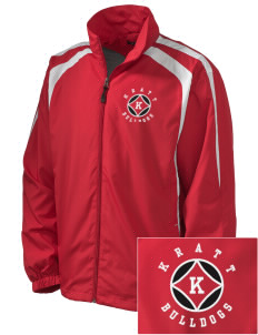 Kratt Elementary School Bulldogs Embroidered Men's Colorblock Raglan Jacket