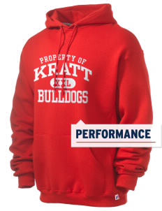 Kratt Elementary School Bulldogs Russell Men's Dri-Power Hooded Sweatshirt