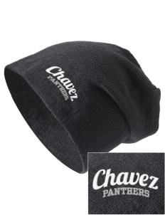 Chavez Elementary School Panthers Embroidered Slouch Beanie