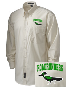 Westmorland Union Elementary School Roadrunners  Embroidered Men's Easy Care, Soil Resistant Shirt