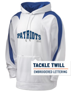 Jefferson Elementary School Patriots Holloway Men's Sports Fleece Hooded Sweatshirt with Tackle Twill