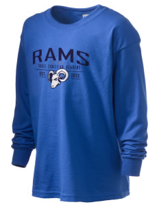 Grace Christian Academy Rams Kid's 6.1 oz Long Sleeve Ultra Cotton T-Shirt
